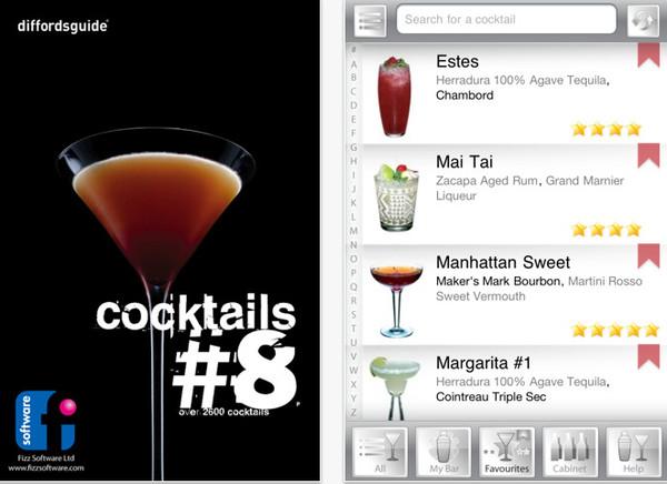 cocktails Apps para preparar bebidas desde tu Smartphone