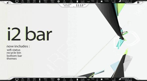 Personaliza tu escritorio de Windows con estos skins de Rainmeter - i2-bar-590x325