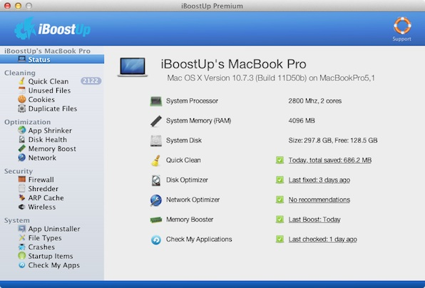 Optimizar tu computadora con estos programas - iBoostUp-mac