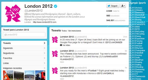 juegos.olimpicos twitter Sigue las cuentas oficiales de Twitter para cada deporte de Londres 2012