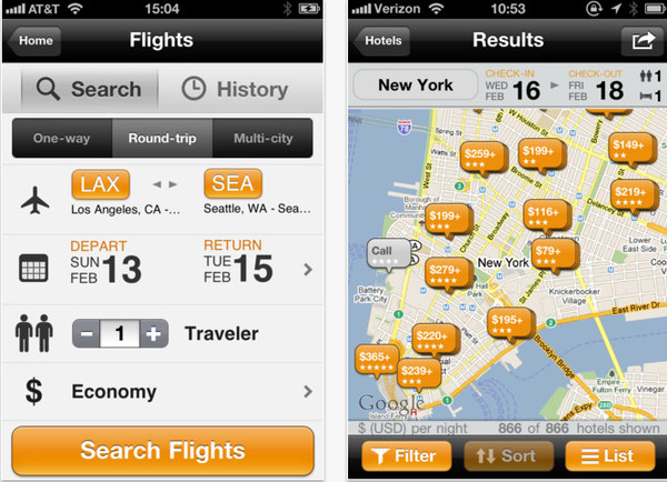 kayak viajes iphone Kayak para iPhone te ayuda a tus viajes