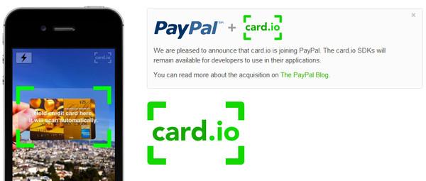 PayPal compra servicio para escanear tarjetas de crédito desde tu smartphone - paypal-card-io
