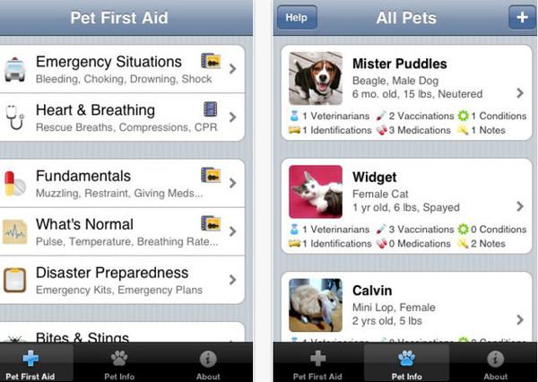 Apps para el cuidado de tu mascota - pet-first-aid