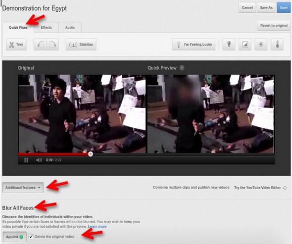 youtube difuminar rostros 590x494 Youtube presenta una función para difuminar caras en los videos que subimos