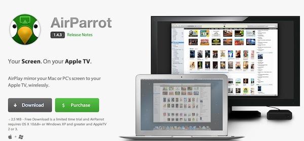 Haz AirPlay Mirroring desde Mac y Windows con AirParrot - AirParrot-Mac