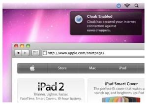 Encriptar conexiones a Internet con Cloak para Mac
