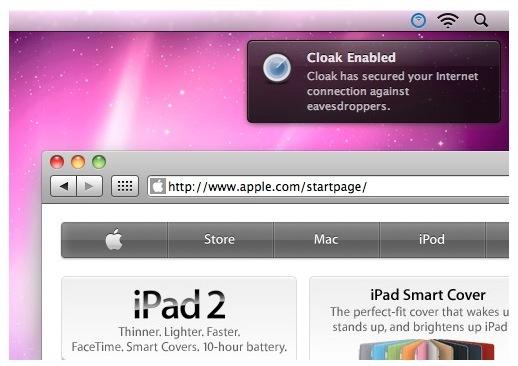 Cloack para mac ios Encriptar conexiones a Internet con Cloak para Mac