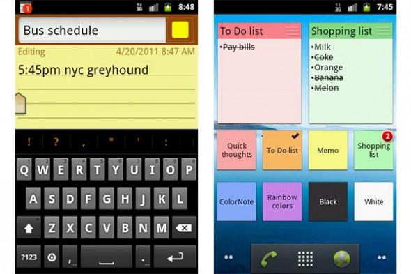 Recordar pendientes con tu Android con ColorNote - Colornote-android-590x393