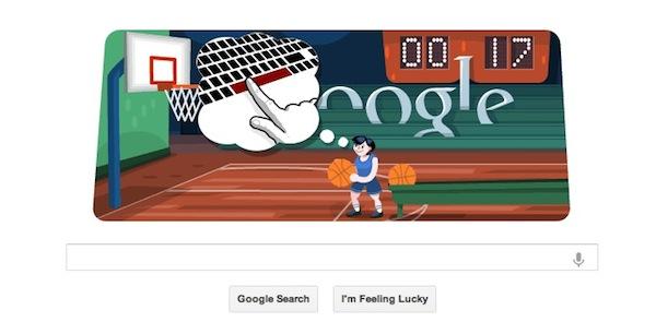 Google nos hace tirar hacia la canasta con su Doodle dedicado al Basquetbol Olímpico - Doodle-Basquetbol-Google