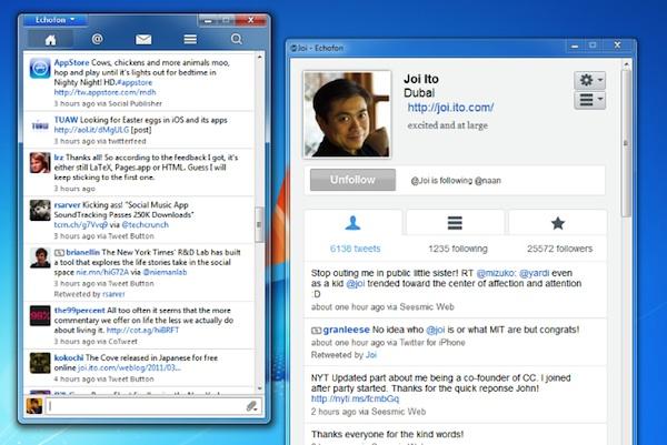 Echofon, un genial cliente de Twitter alternativo para Windows y Mac - Echofon-windows