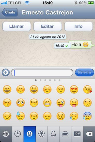 Cómo habilitar los iconos en WhatsApp - emoticon-whatsapp
