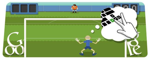 google doodle futbol Adiós productividad de viernes: Un nuevo Doodle de fútbol por parte de Google