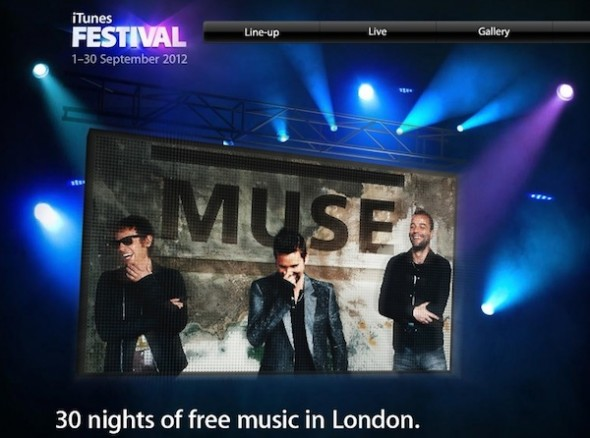iTunes Festival 2012 590x438 Sigue en directo el iTunes Festival 2012 desde tu iPhone, Apple TV o computadora