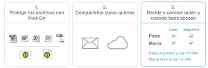 Prot-On, una aplicación que permite proteger los archivos que se comparten en Internet