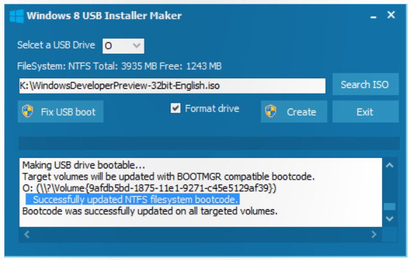 windows 8 usb installer 2 Preparar un USB booteable para instalar Windows 8