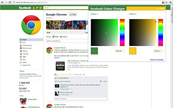Útiles extensiones de Google Chrome para mejorar tu Facebook - Facebook-Colour-Changer