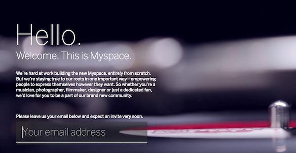 MySpace prepara un gran retorno para competir contra Facebook, Twitter y Google+ - MySpace-invitation