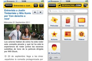 Entérate de todo lo nuevo del cine con Sensacine para iOS