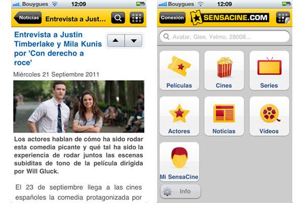 Entérate de todo lo nuevo del cine con Sensacine para iOS - Sensacine