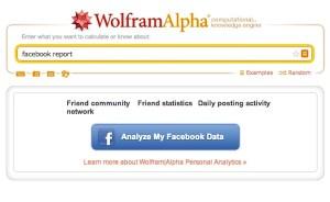 Analiza tu cuenta de Facebook con Facebook Reports de Wolfram Alpha