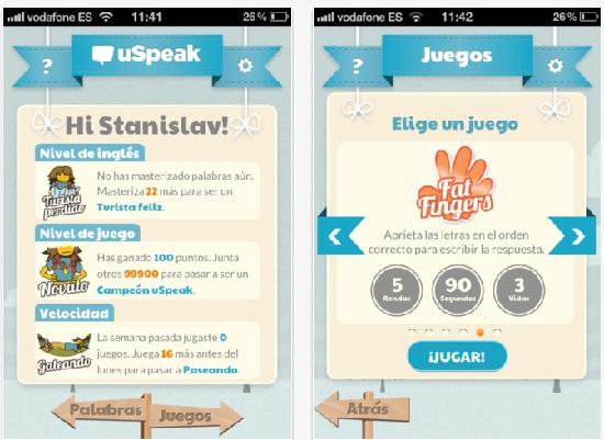 aprende ingles con uspeak Aprende inglés con uSpeak para iPhone