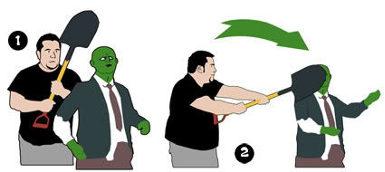 Qué podemos hacer en caso de una invasión zombie [Humor] - atacar-un-zombie