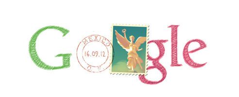 """Google muestra """"doodle"""" sobre el día de la Independencia de México - doodle-de-google-independencia"""