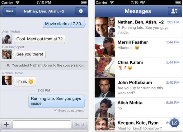 Facebook Messenger para iOS se actualizó a la versión 2.0 - facebook-messenger-para-ios