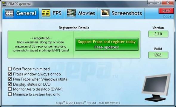 fraps 590x360 Captura la acción de tus videojuegos de PC con FRAPS