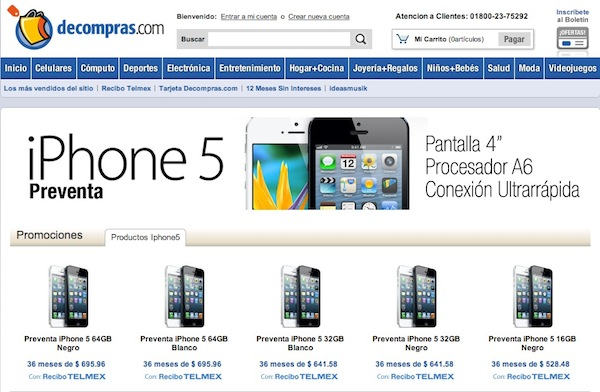 iPhone 5 preventa mexico Inicia preventa de iPhone 5 con Telmex