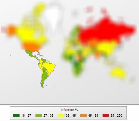 Los ciberdelitos y su geografía en América Latina - paises-chart