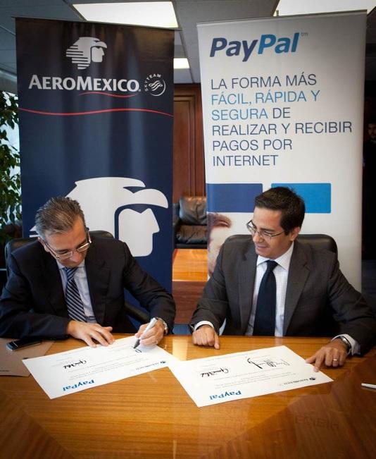 Aeromexico y PayPal firman acuerdo - paypal-aeromexico