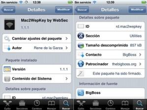 Sacar claves Wifi para iPhone