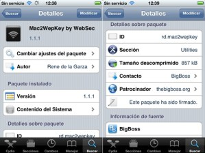 Sacar claves Wifi para iPhone