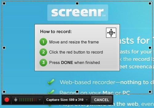 Graba lo que sucede en tu pantalla y compártelo con Screenr - screenr