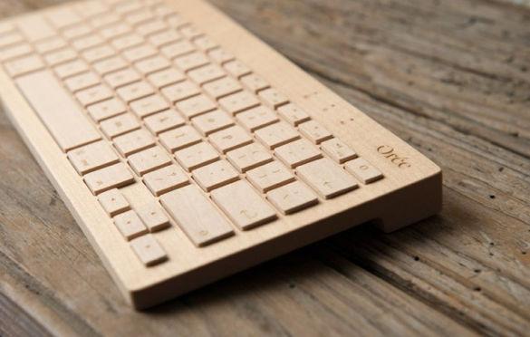 Orée, interesante teclado inalámbrico de madera - teclado-de-madera