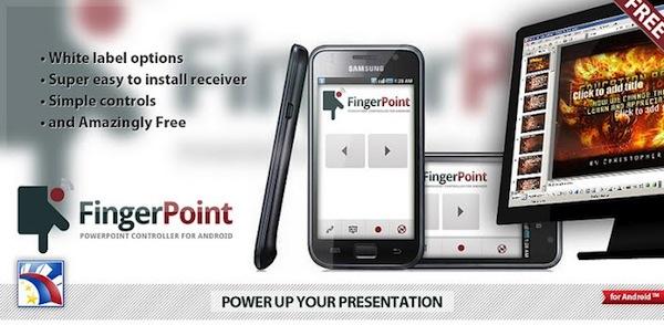 Aplicaciones para controlar tus presentaciones de PowerPoint - Finger-Point-Android