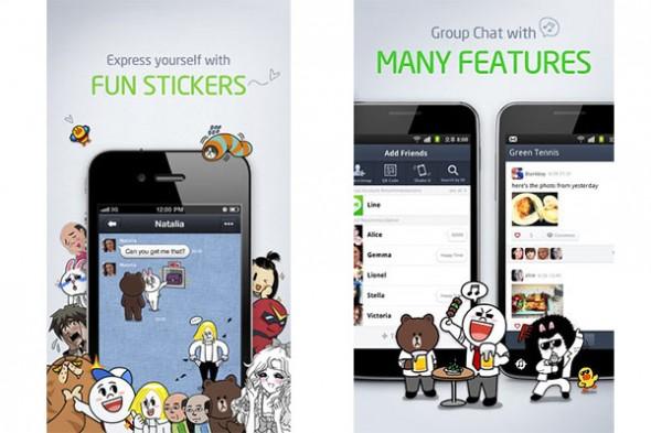 LINE, una espectacular y original alternativa a Whatsapp y Viber - Line-alternativa-whatsapp-590x393
