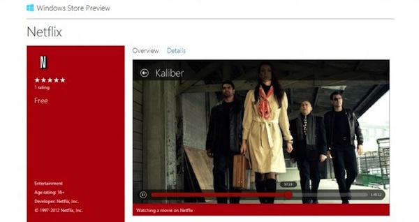 Aplicación de Netflix para Windows 8 por fin disponible
