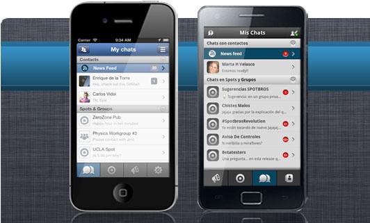 Spotbros, la aplicación alternativa a Whatsapp supera los 200 mil usuarios y llega a América Latina - Spotbros-ios-android