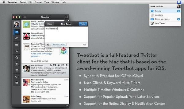 Tweetbot mac app store Tweetbot para Mac disponible en la Mac App Store
