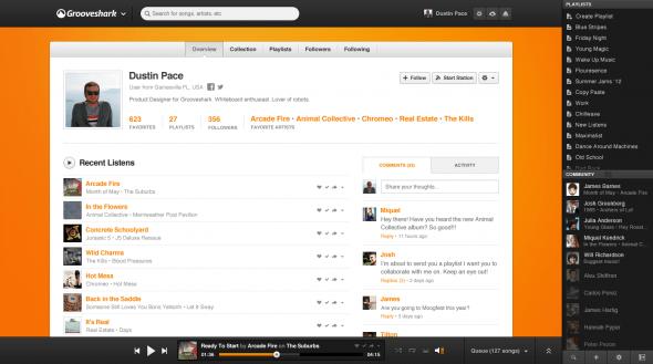 Grooveshark rediseña su sitio con importantes mejoras sociales y opciones para artistas - User-590x329