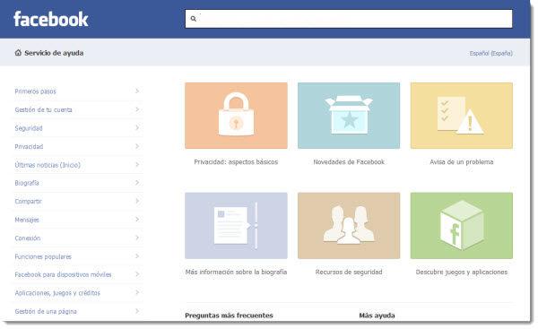 Facebook estrena nuevo diseño en su centro de ayuda - centro-de-ayuda-facebook
