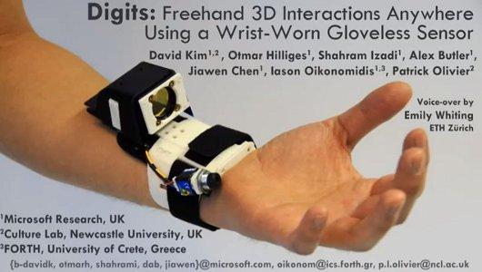 Microsoft Research muestra Digits, la tecnología de Kinect en las manos - digits