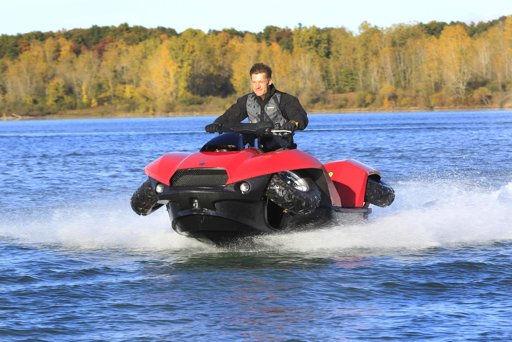 moto que va en mar y tierra Saldrá a la venta moto Quadski, capaza de andar en mar y tierra