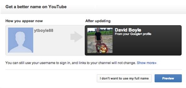 Google permitirá relacionar el perfil de Google Plus con nuestra cuenta en Youtube