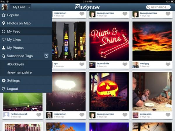 Padgram, una genial aplicación de Instagram para iPad - Padgram-ipad