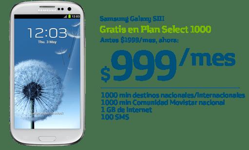 Samsung Galaxy SIII y iPhone 4S gratis con Movistar para este Buen Fin - SamsungGalaxy-movistar-buen-fin
