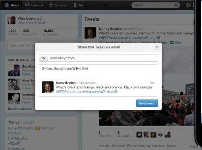 Twitter ahora permitirá compartir tweets por email - enviar-tweet-por-email