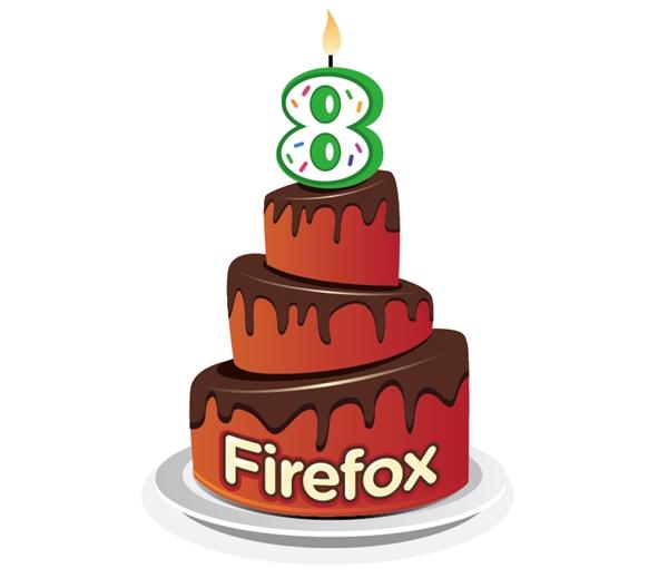 firefox cumple 8 anos Mozilla Firefox cumple 8 años